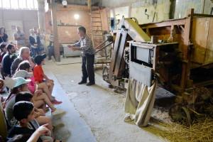 battage des gerbes de blé à la batteuse